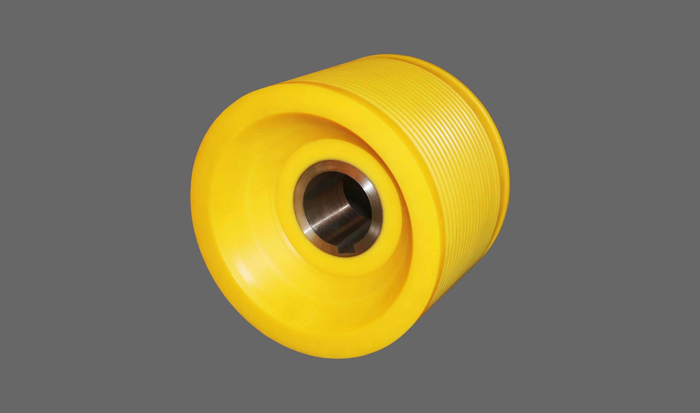 离心聚合一体式金属衬套尼龙轮(螺旋滚轮)