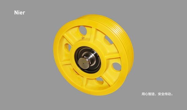 MC尼龙轮丨6筋有孔