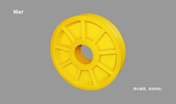 MC尼龙轮丨9筋无孔