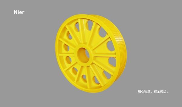 MC尼龙轮丨12筋有孔